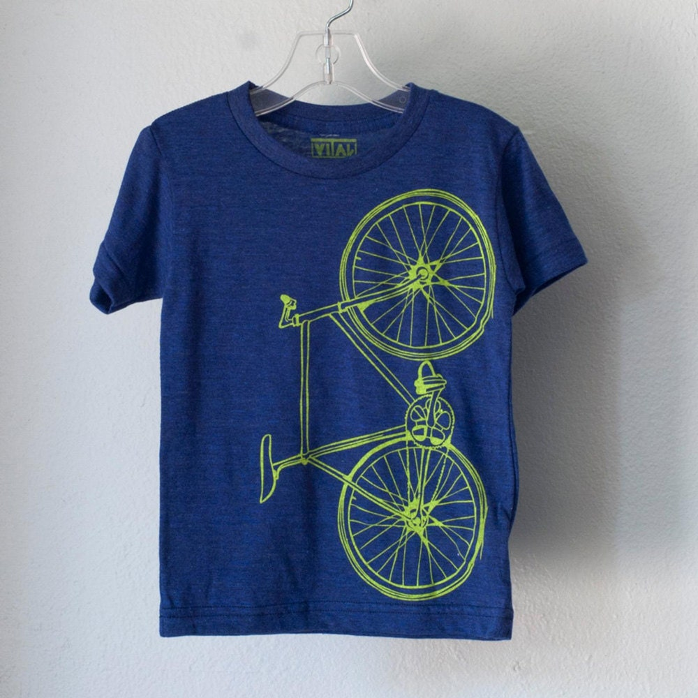 A screnprinted bicycle T-shirt from Vital Industries