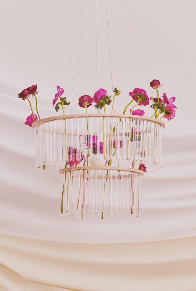 The Etsy Design Awards Home & Living Category Winner: a test tube chandelier from Pani Jurek