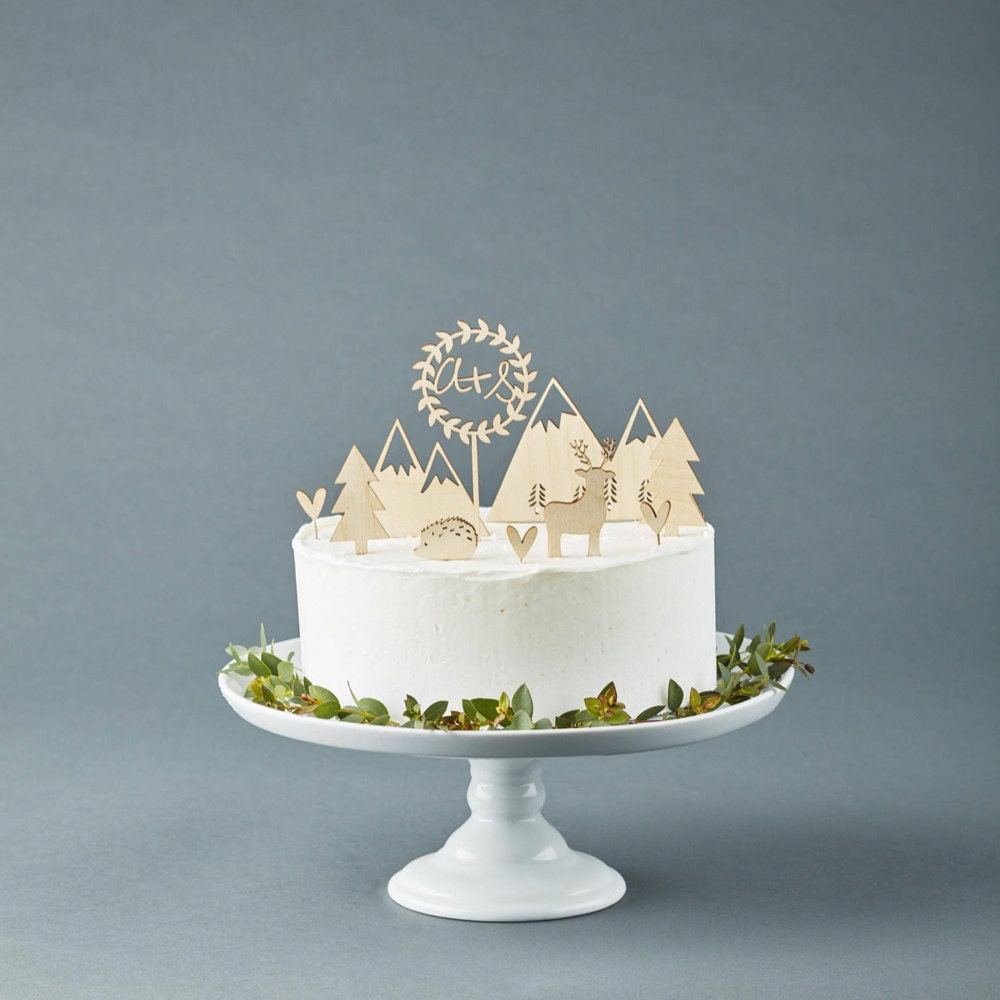 Woodland cake topper set from Light + Paper
