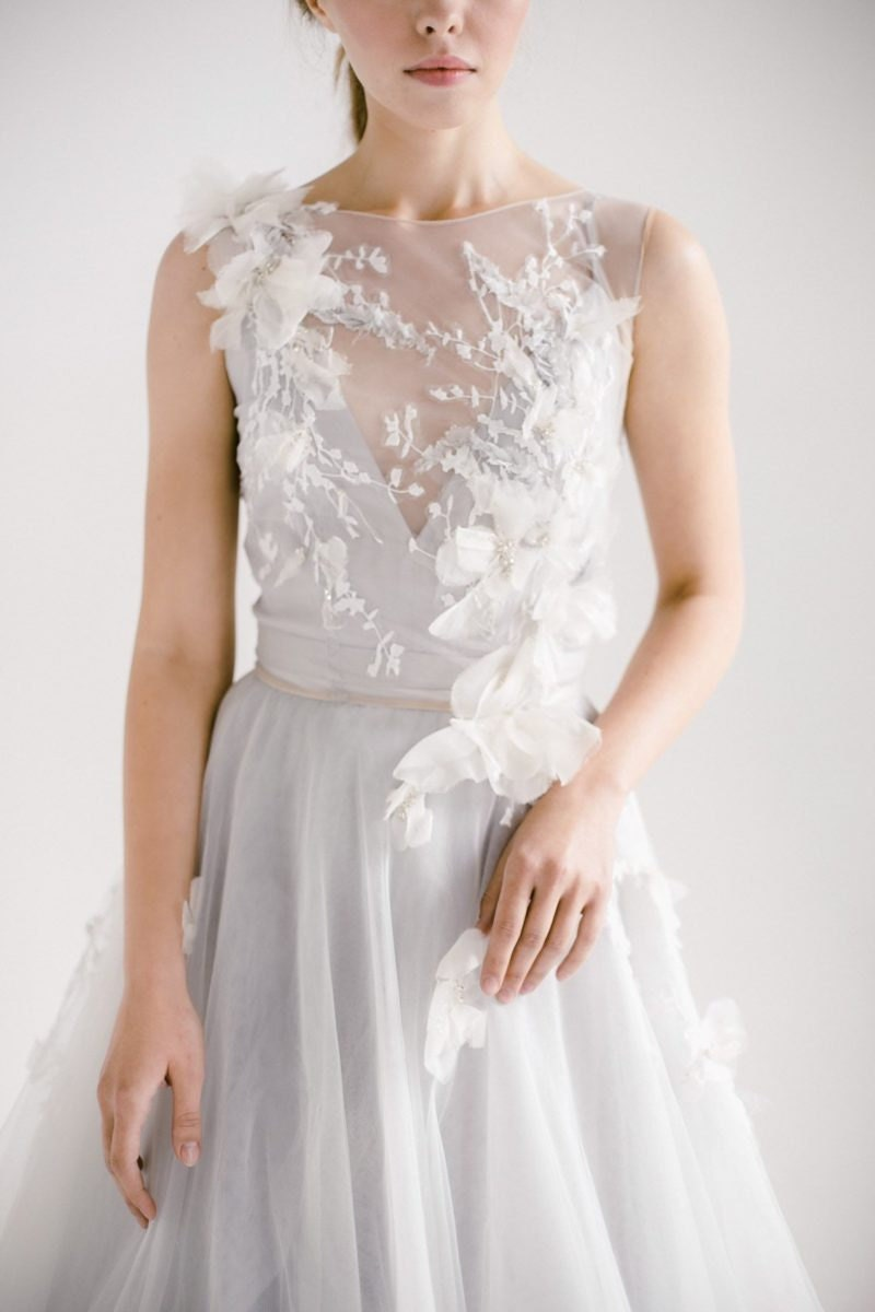An embroidered floral wedding dress from Mywony