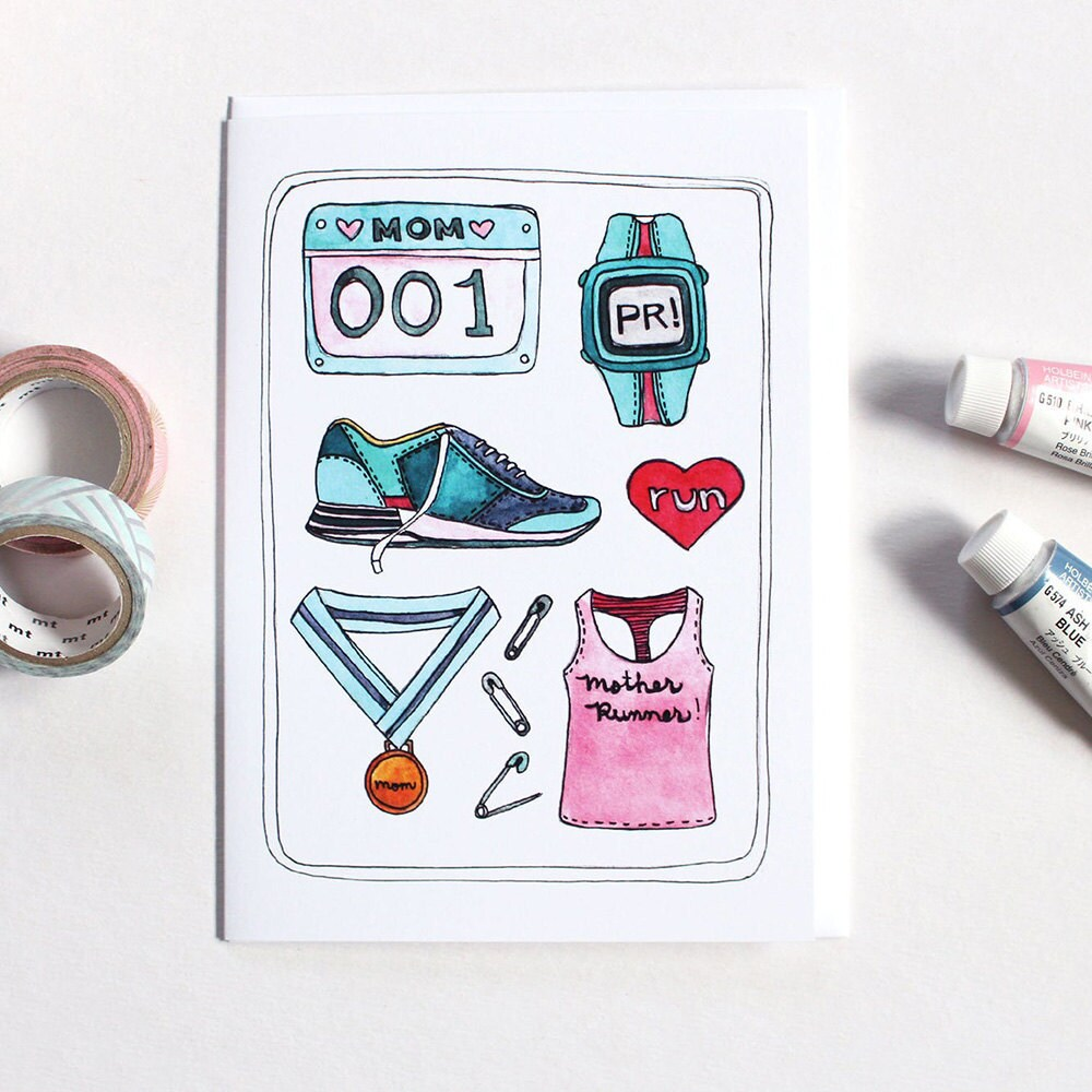A unique Mother's Day card for a mom who runs marathons