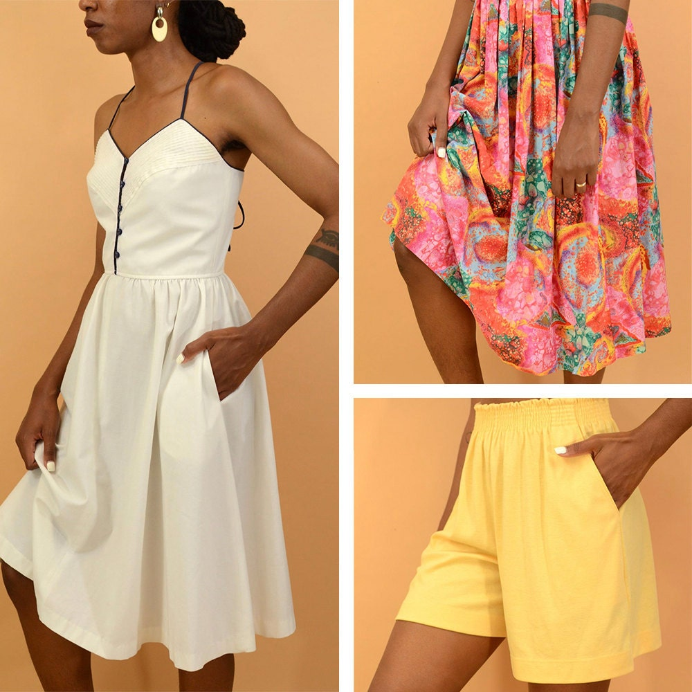 A collage of women's vintage items available from MAW SUPPLY