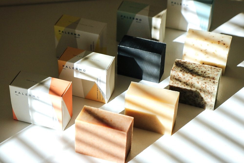 Curated image with Assorted soaps from Palermo Body, $12 each