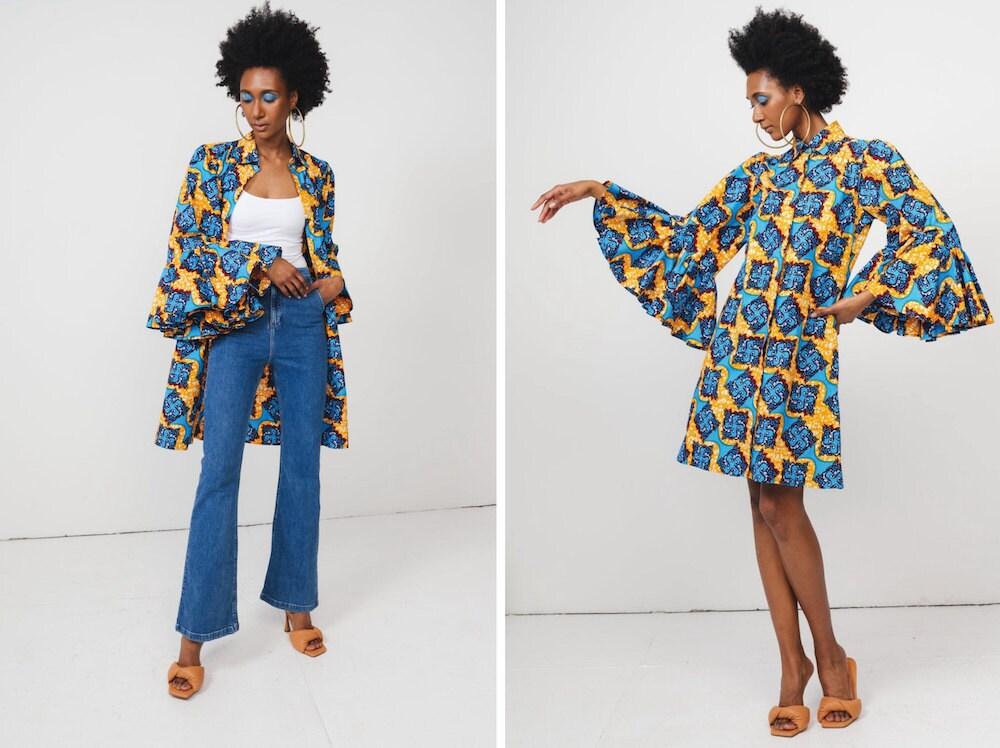 Patterned fall fashion tunic dress from DEMESTIK