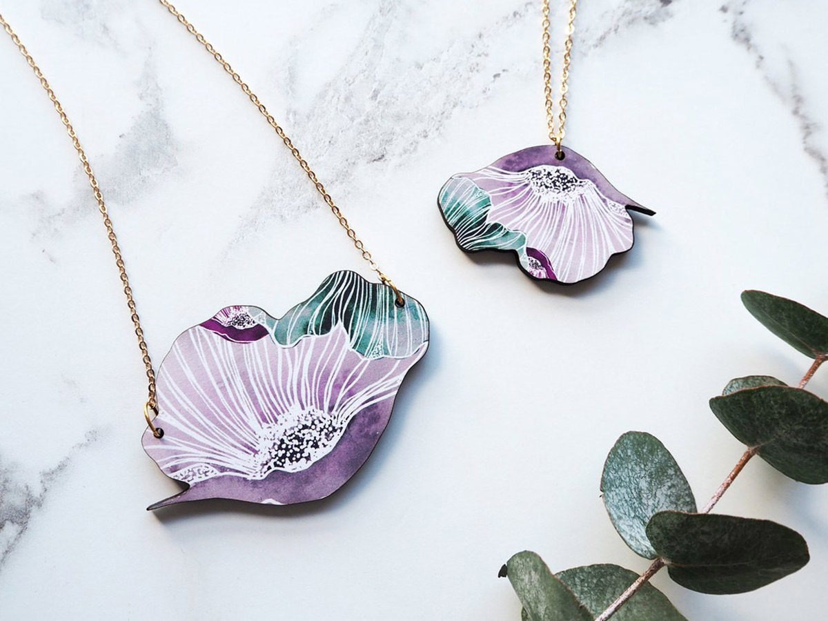 botanical necklaces from Mica Peet