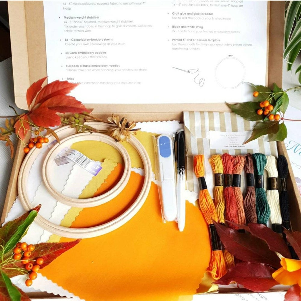 Autumn embroidery kit from Natalie Gaynor Designs