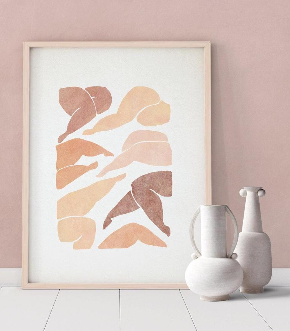 Downloadable abstract figure print from forn Studio