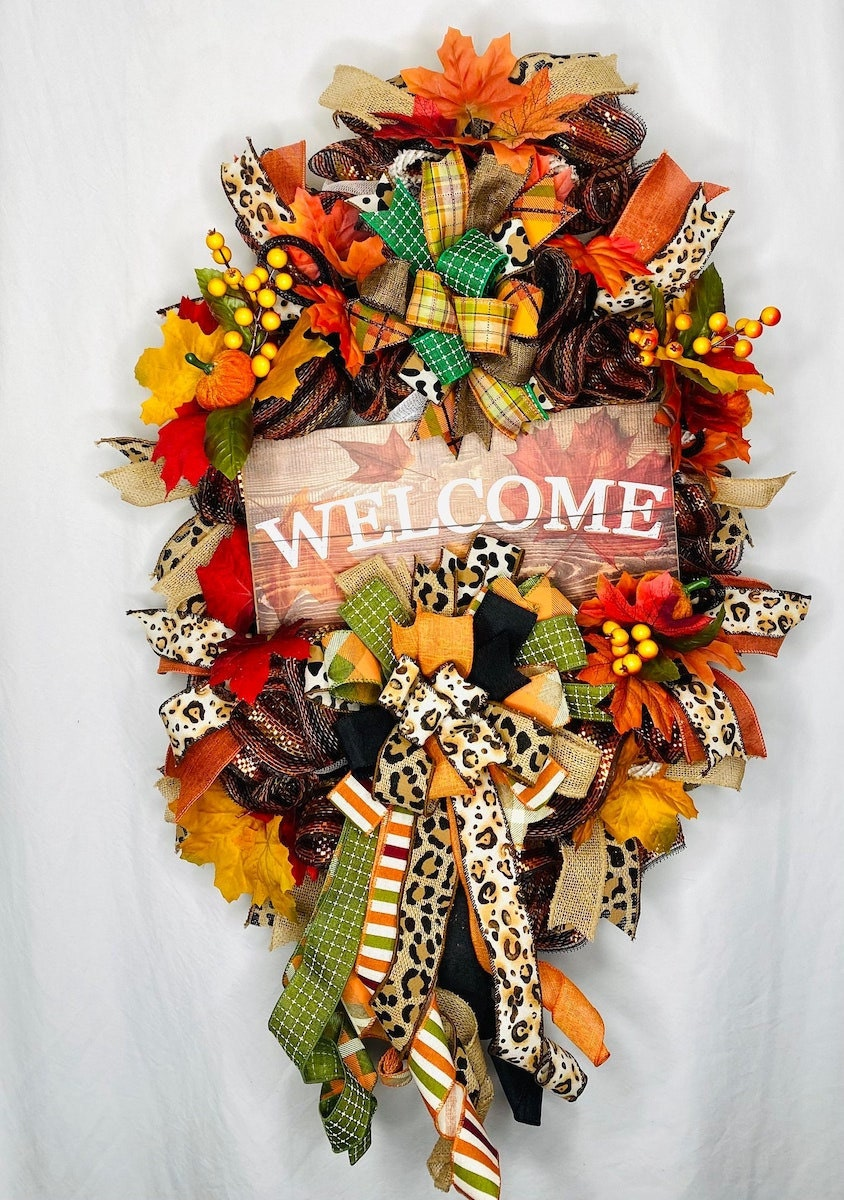 Fall swag for front door