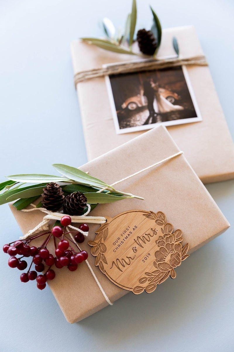 Customizable first married Christmas ornament from Hereafter