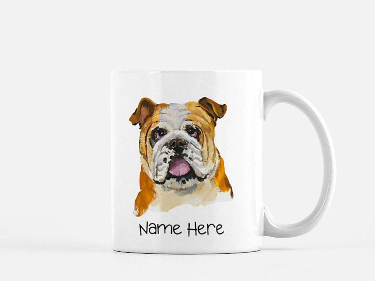 Custom dog mug from Cooper Chameleon, and other personalized Father's Day gifts from Etsy