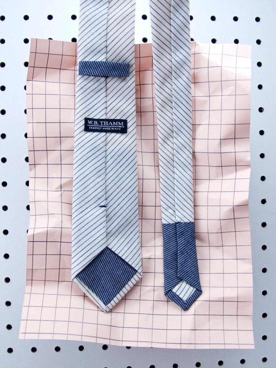 Boyd striped skinny necktie from W.B. THAMM, and more of the best dad gifts on Etsy