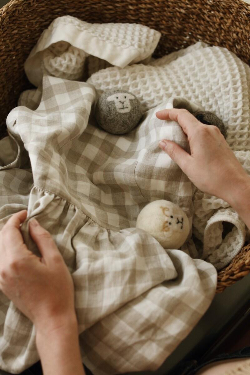 Reusable wool dryer balls from Little Beau Sheep