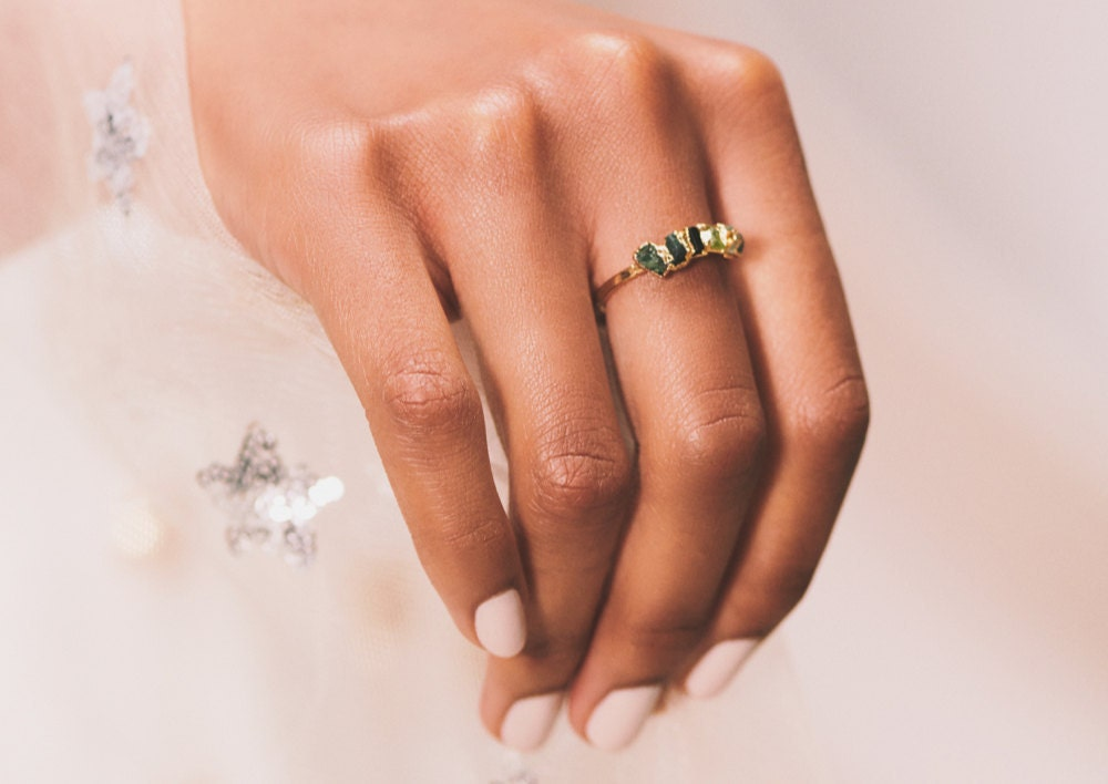 The Peoples' Choice Award Winner: an ombré gemstone ring from Dani Barbe