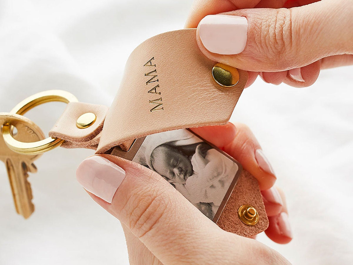 Personalized leather keychain and other meaningful Mother's Day gifts