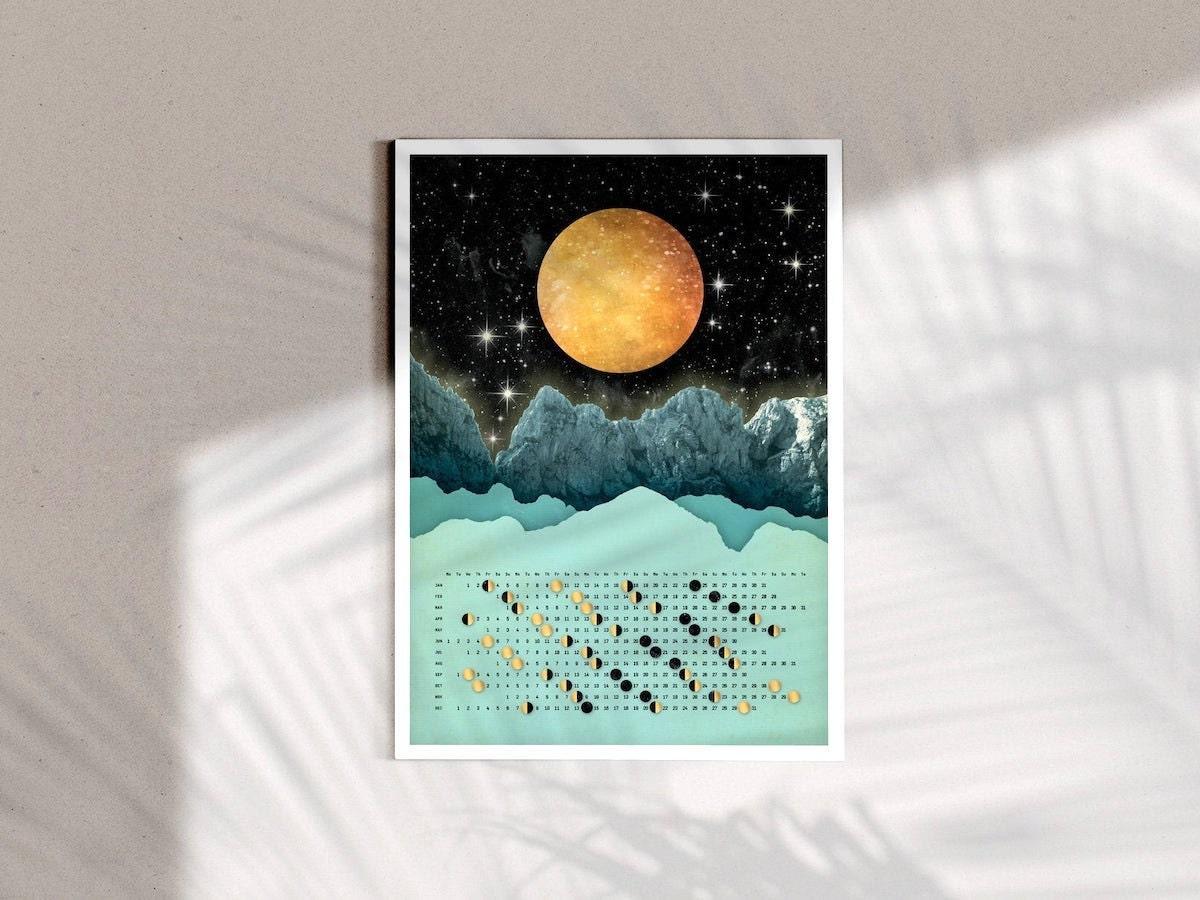 Moon wall calendar from DURIDO
