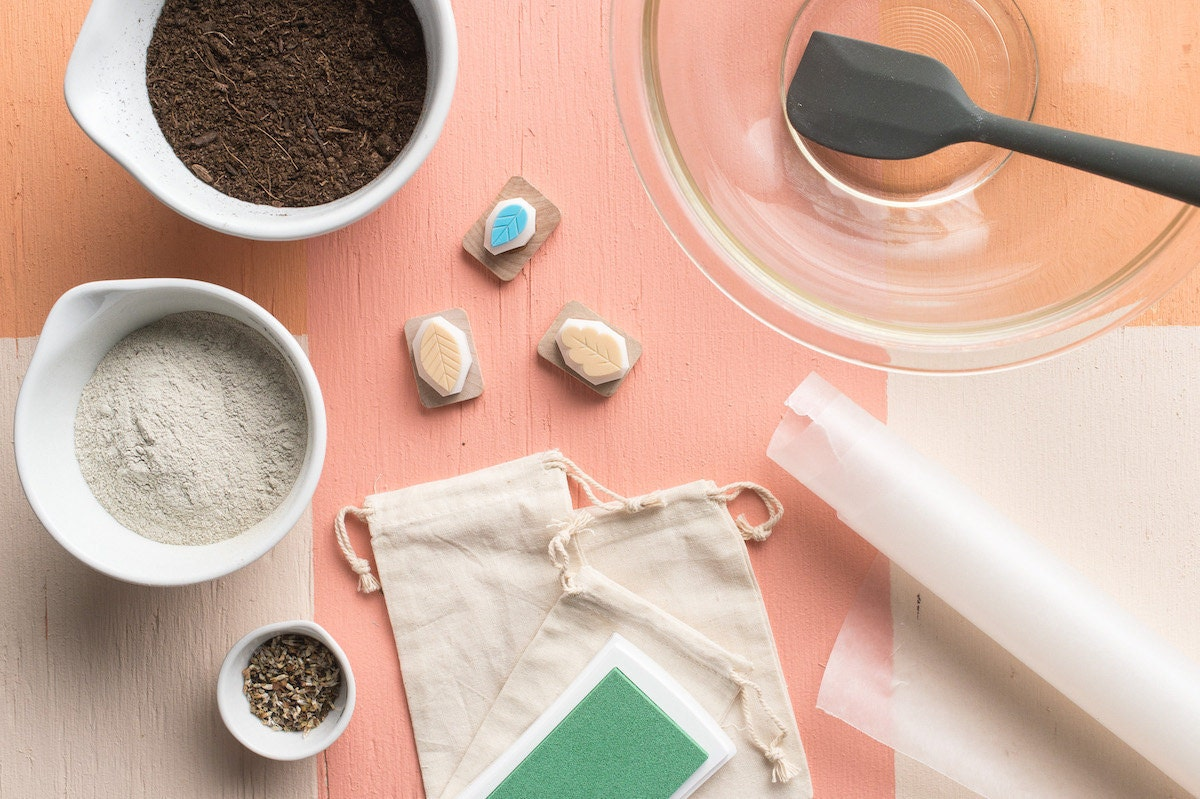 All the supplies you need to make DIY wildflower seed bombs