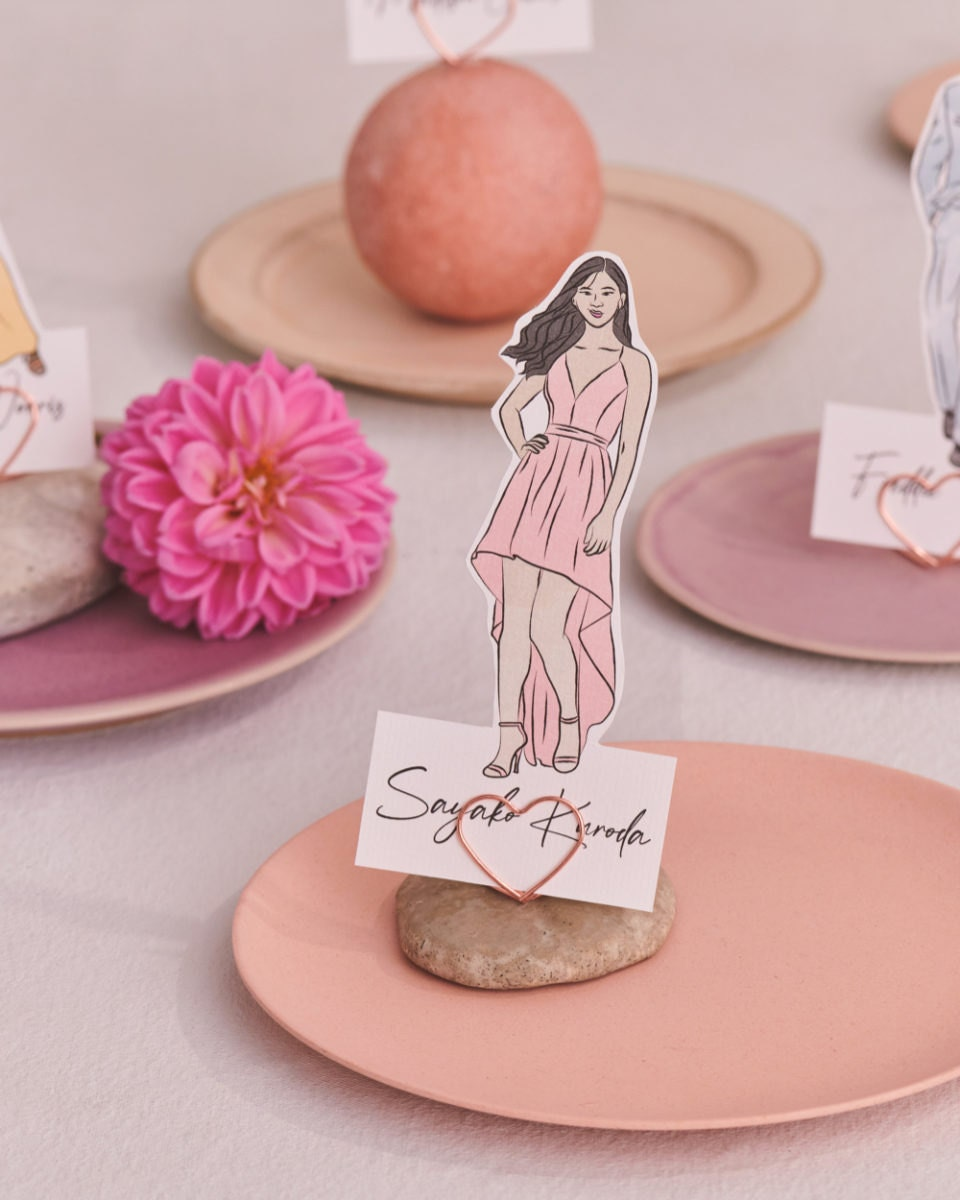 The Etsy Design Awards Paper & Party Category Winner: custom illustrated placecards by Kyri Design