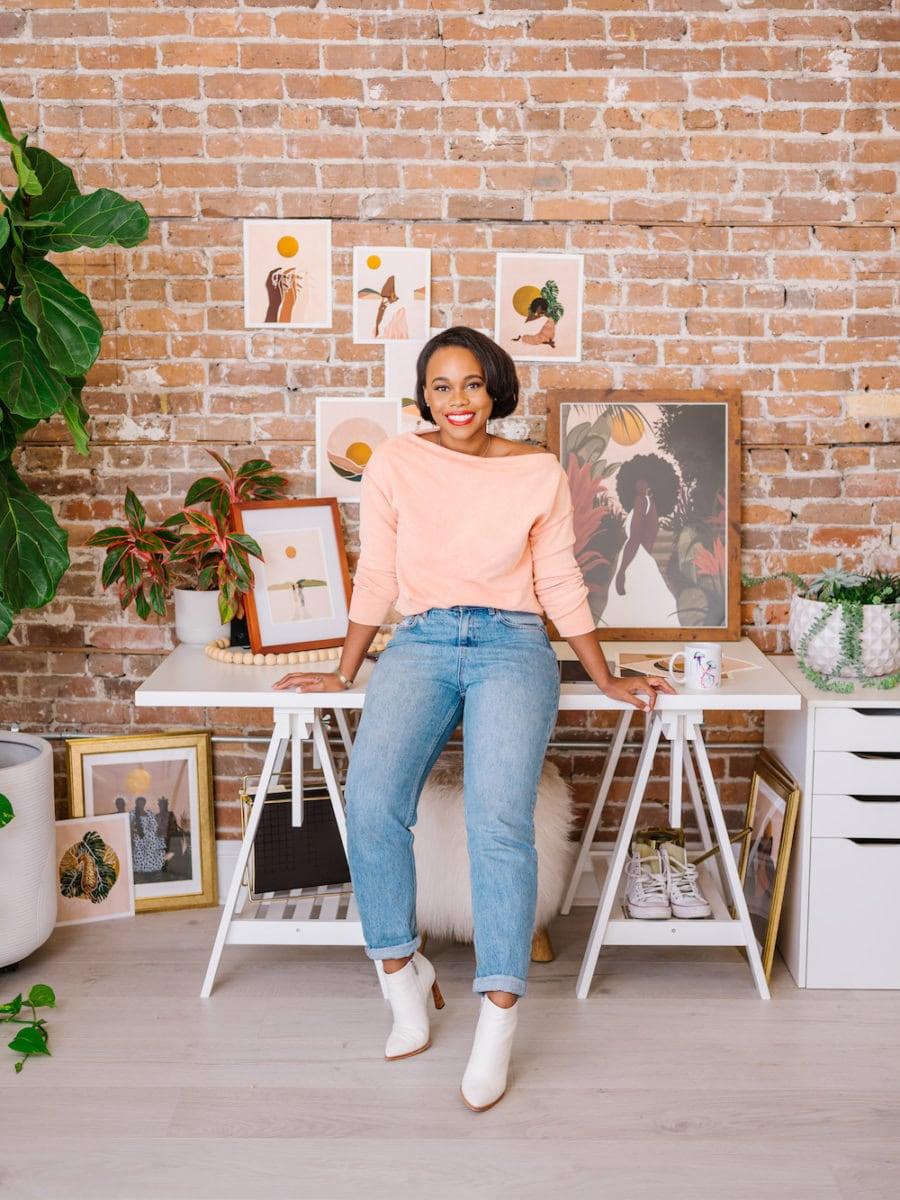 Portrait of Melissa in her studio