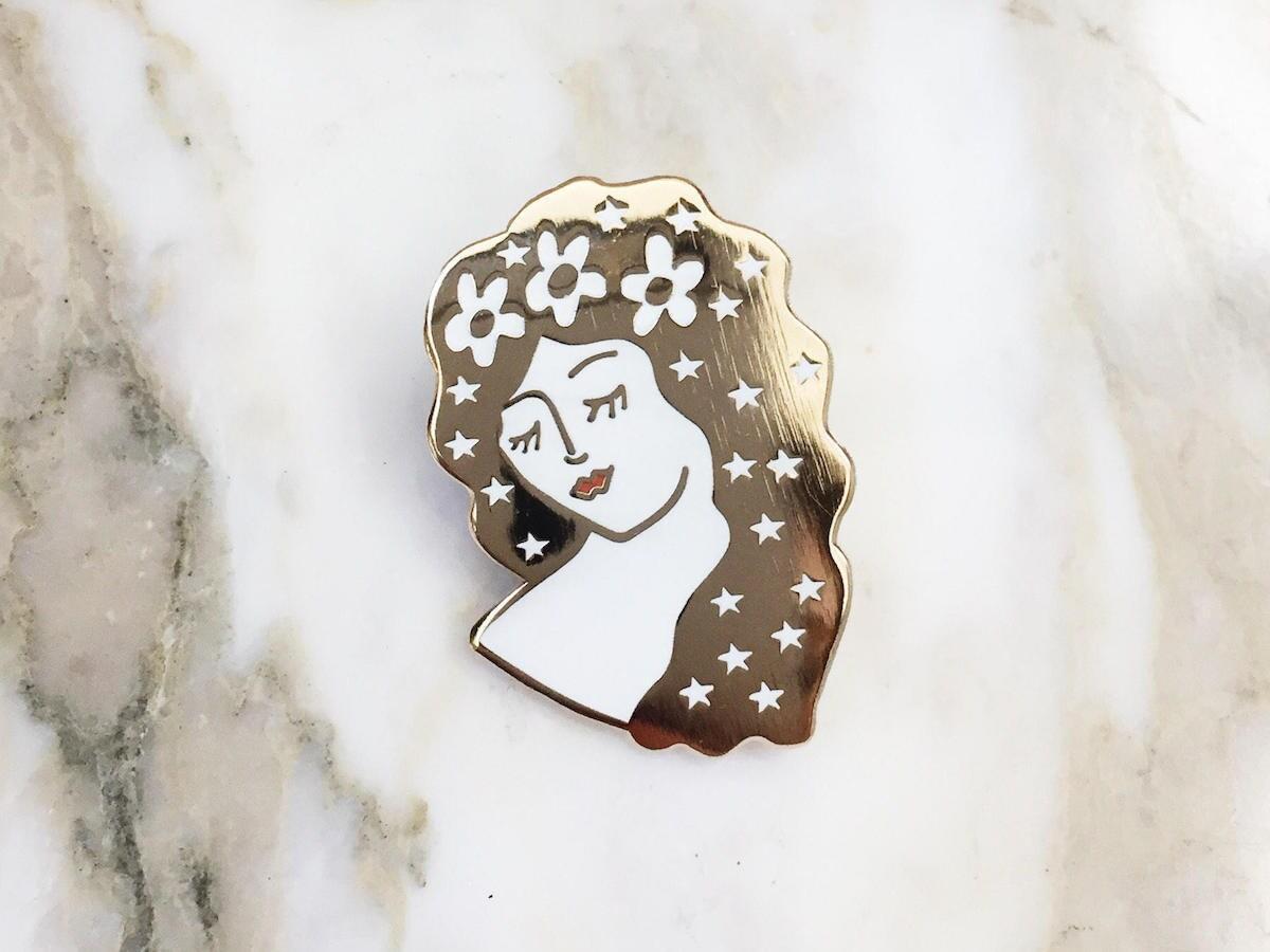 Zodiac-inspired pin from Kristina Micotti Illustration