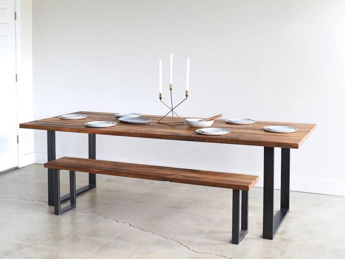 Handmade dining table from What WE Make