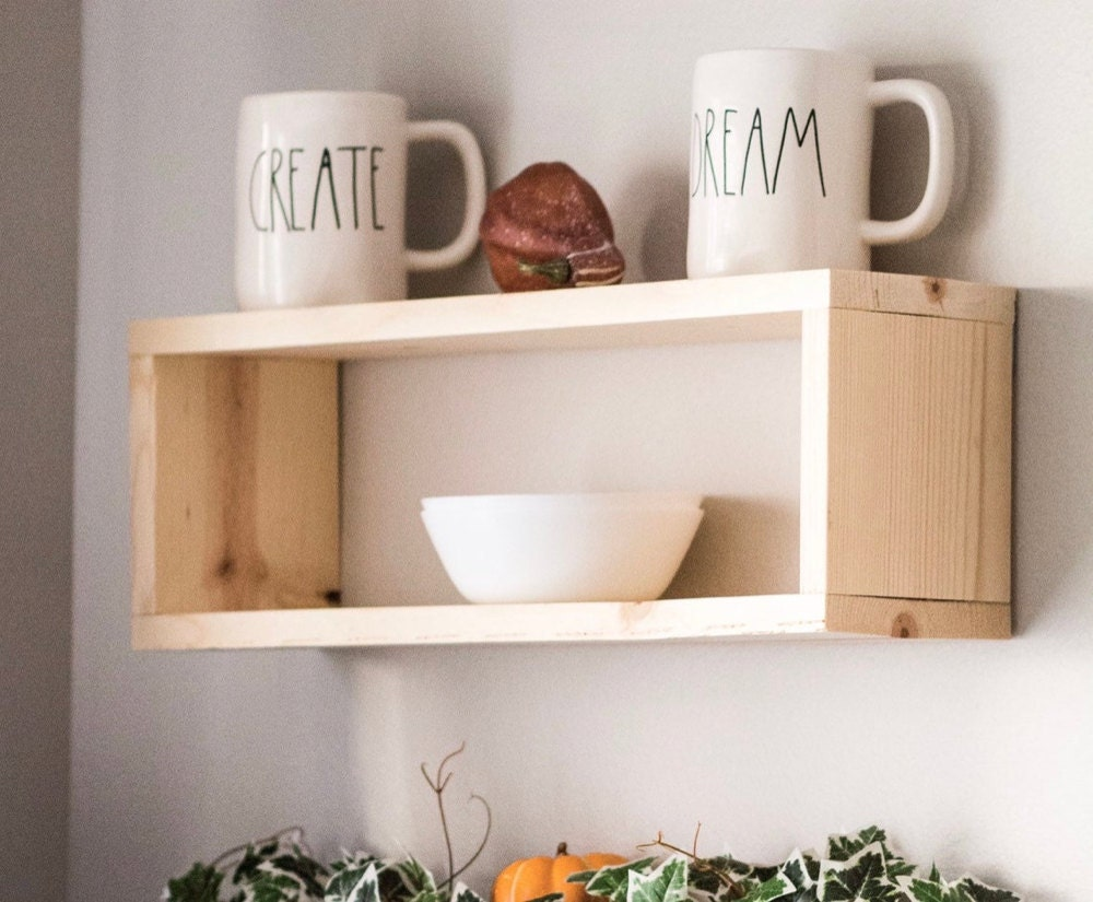 Floating box shelf from TheCraftySwirl, from $25