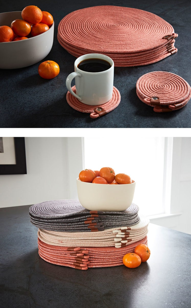 Altuzarra x Etsy placemats and coasters from Damaris Kovach Art & Home