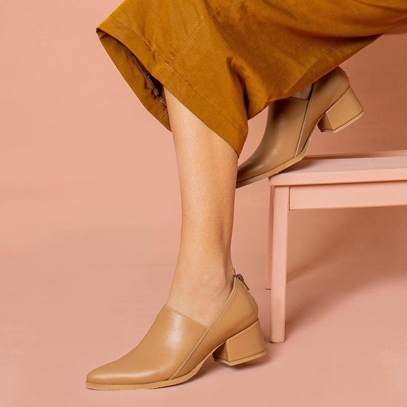 Slip-on leather heels from Katz and Birds