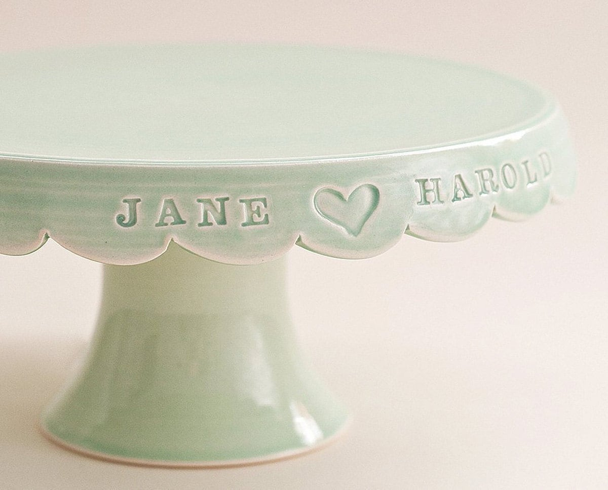 Ceramic cake stand from Etsy