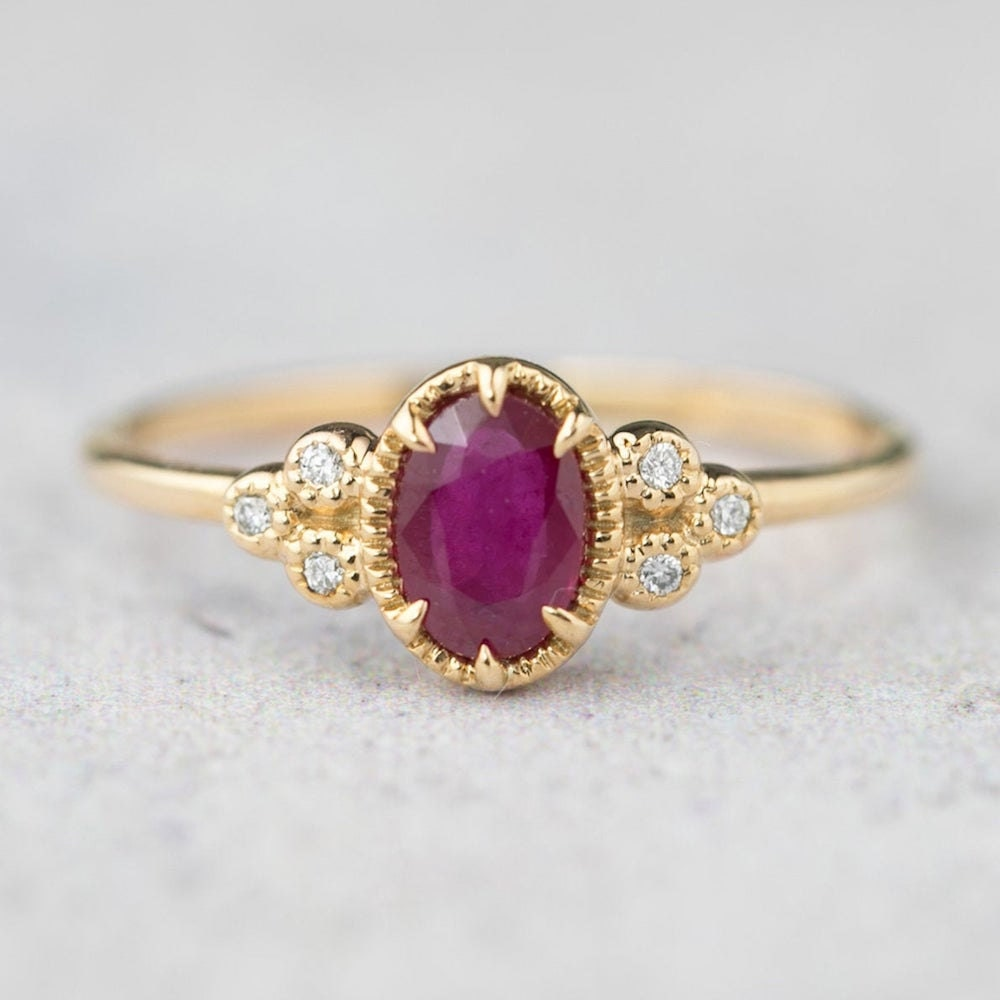 Ruby and diamond ring from Envero Jewelry