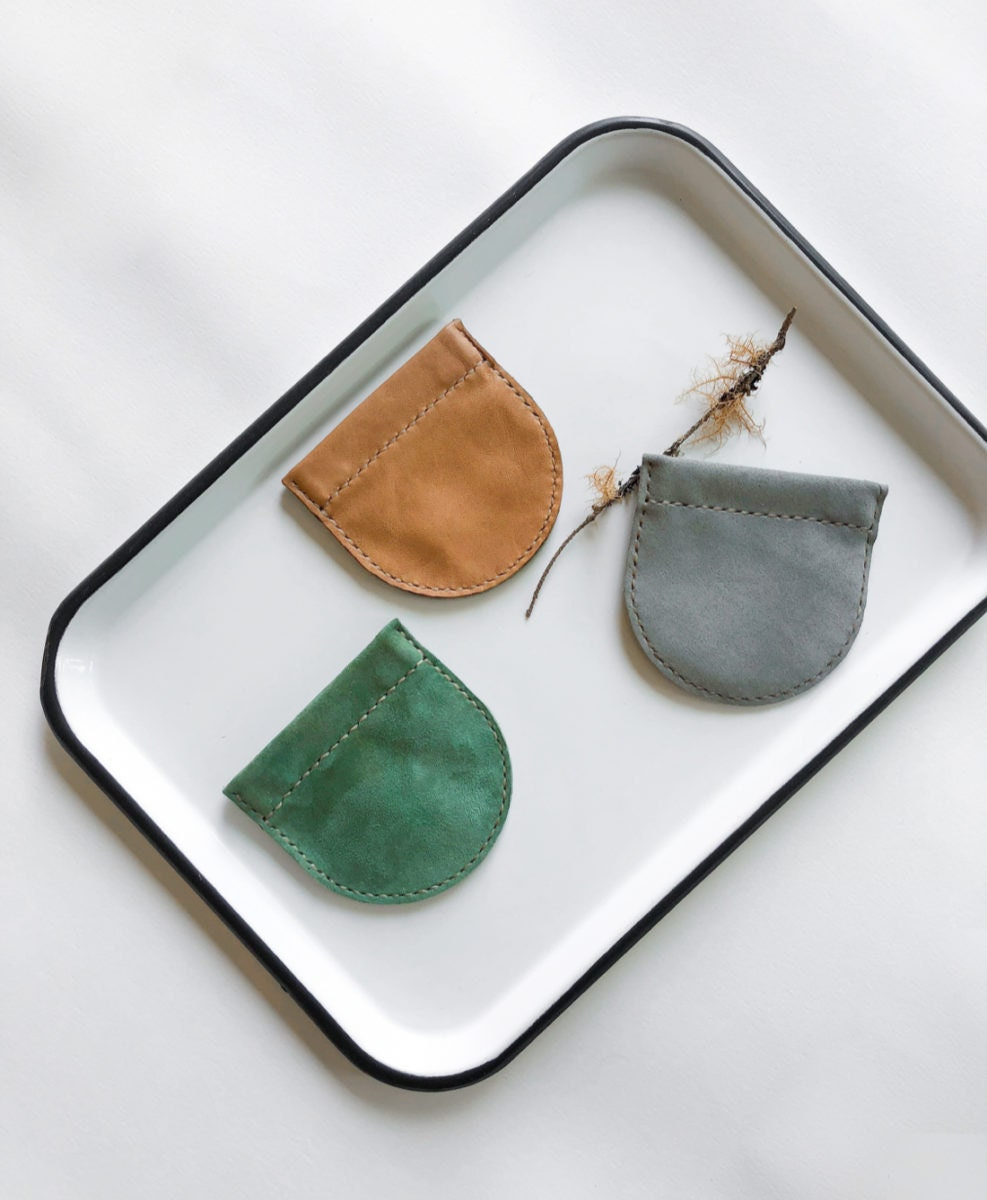 Leather coin pouches from Small Queue