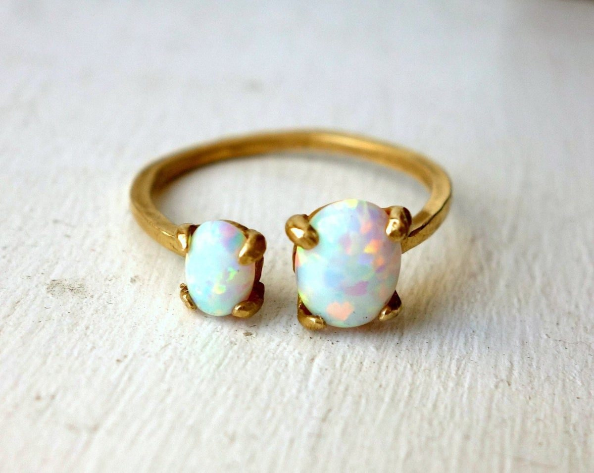 Dual-stone opal ring from Rachel Pfeffer