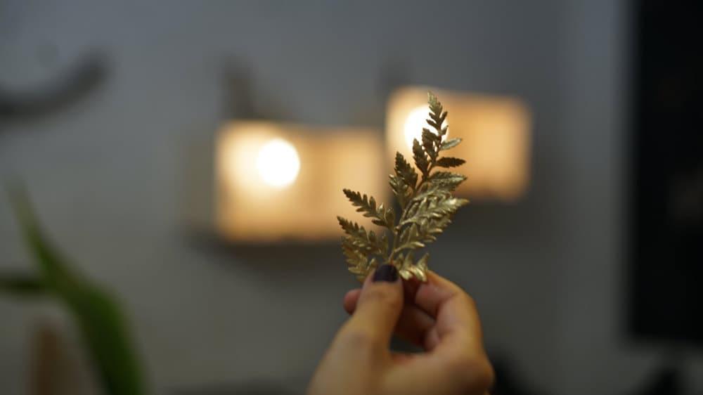 Detail on a leaf design