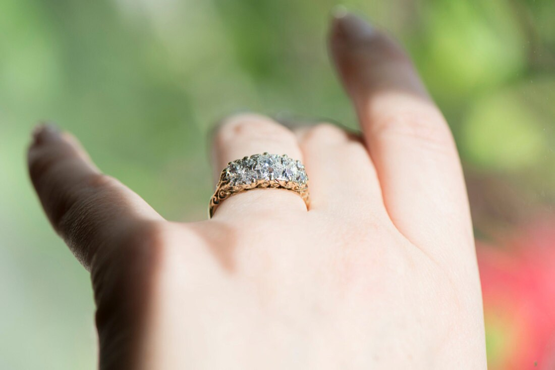 An old-cut diamond engagement ring from KK Vintage Collection