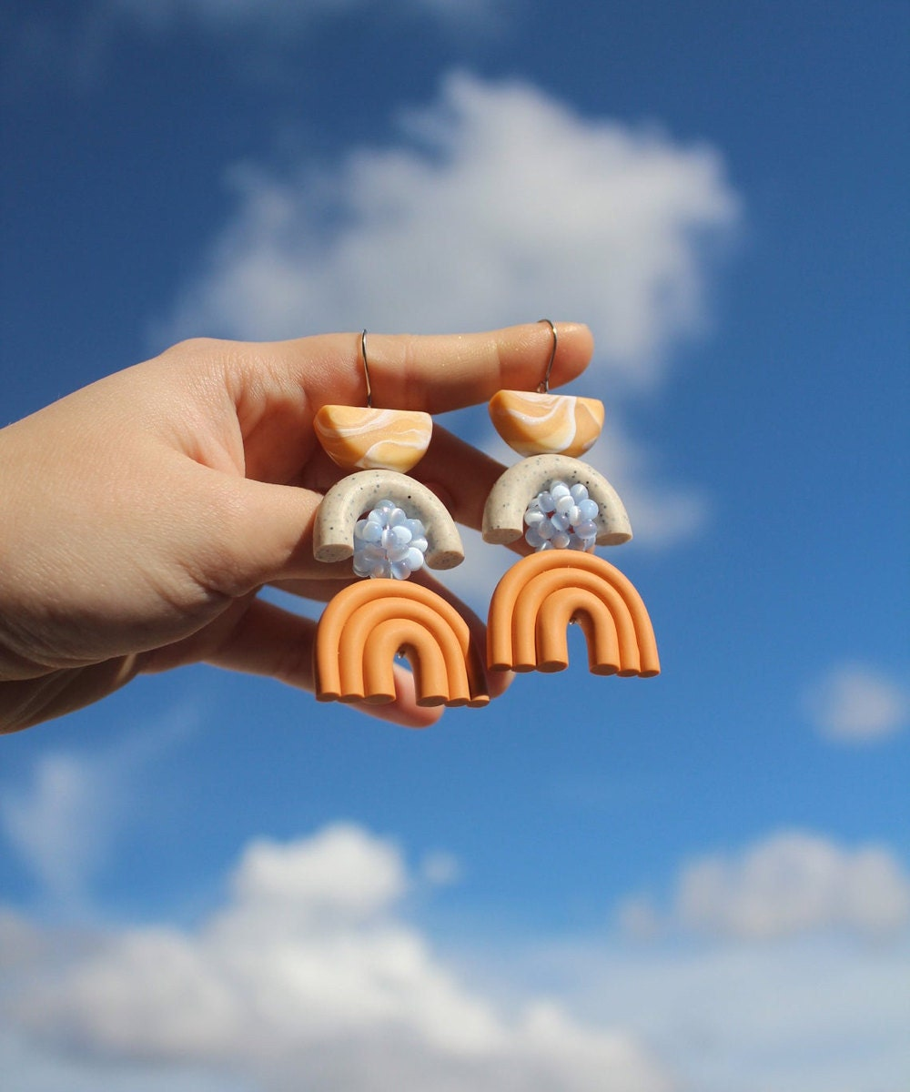 Geometric abstract earrings from TSUNJA