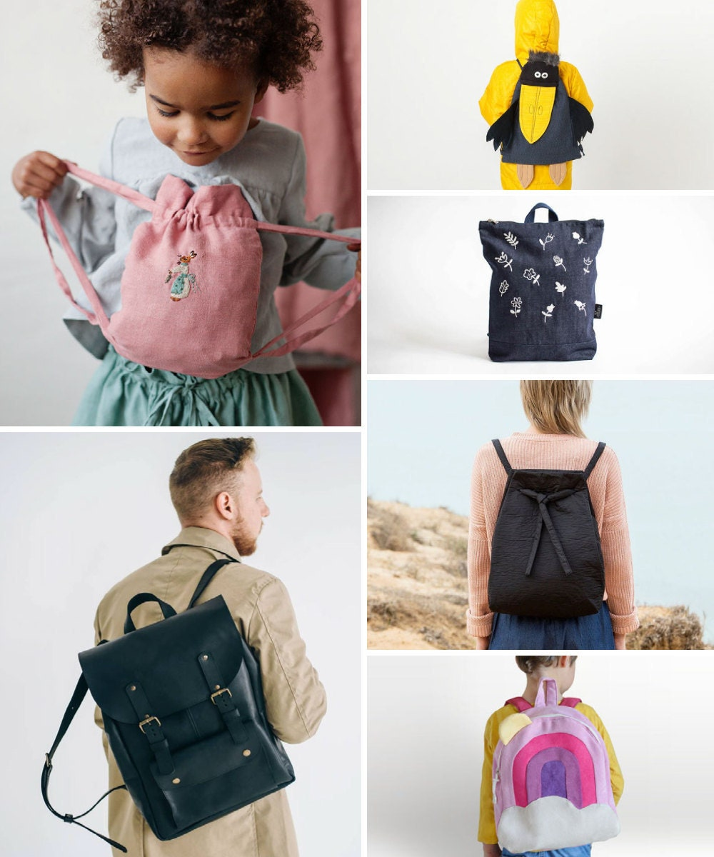 Backpacks and more back-to-school supplies on Etsy