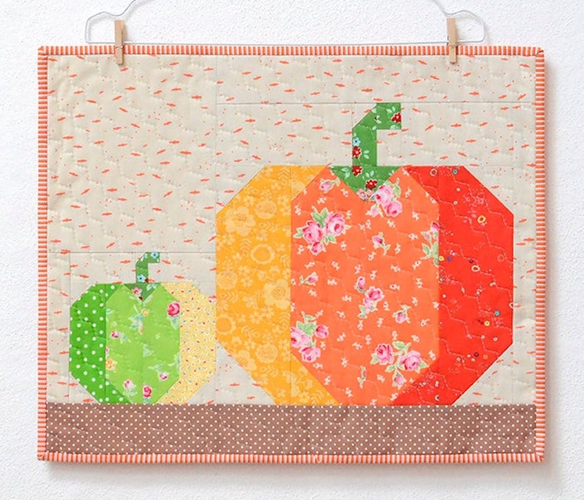 A pumpkin quilt pattern from Etsy