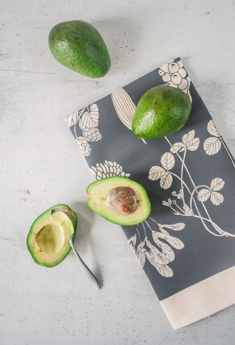Botanical-print napkins from Softer and Wild