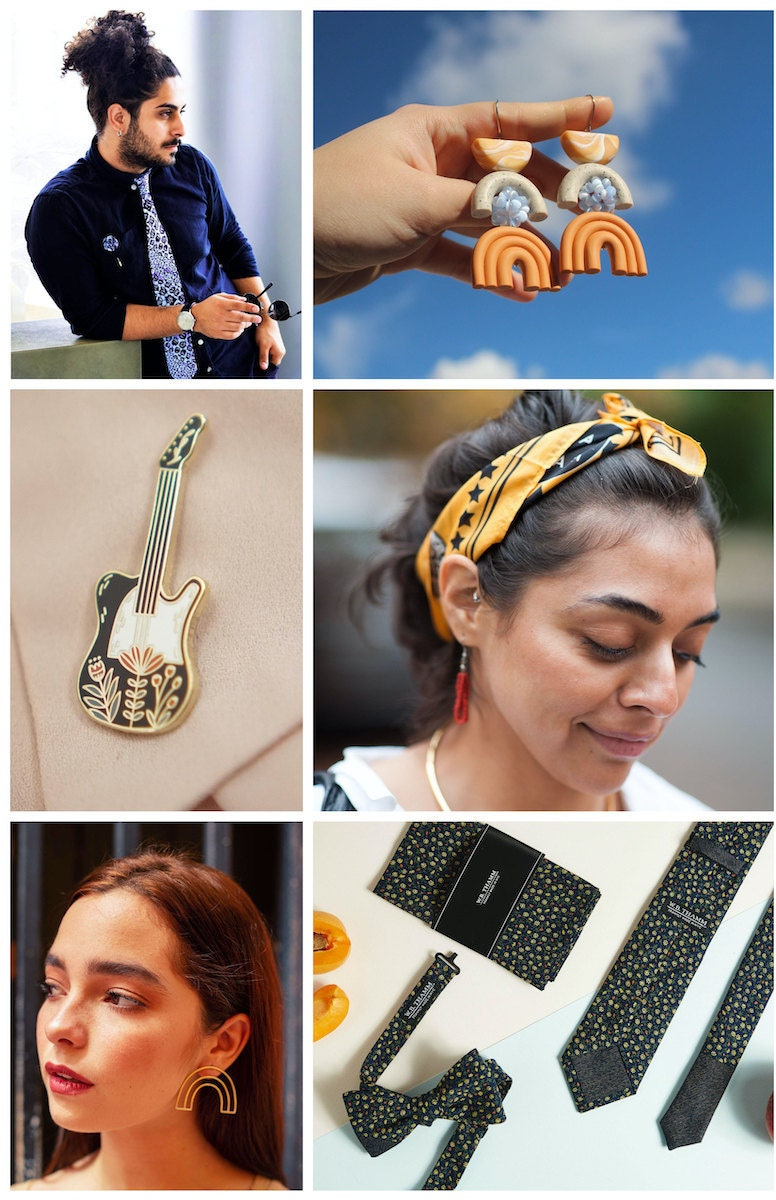 Accessories for upgrading your video call style from Etsy