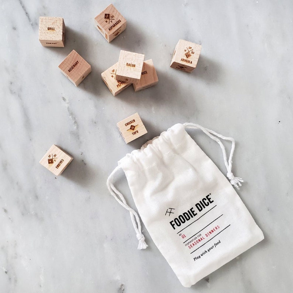 Foodie dice from Two Tumbleweeds
