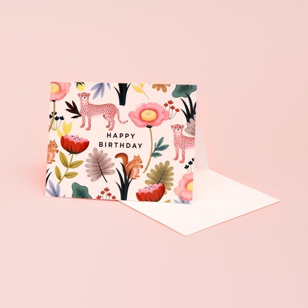 An animal kingdom birthday card from Clap Clap.