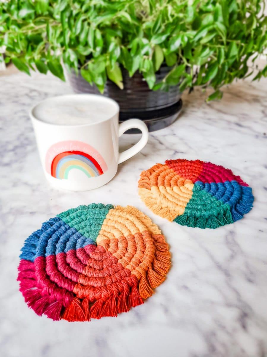 Rainbow coasters from Sweet Home Alberti
