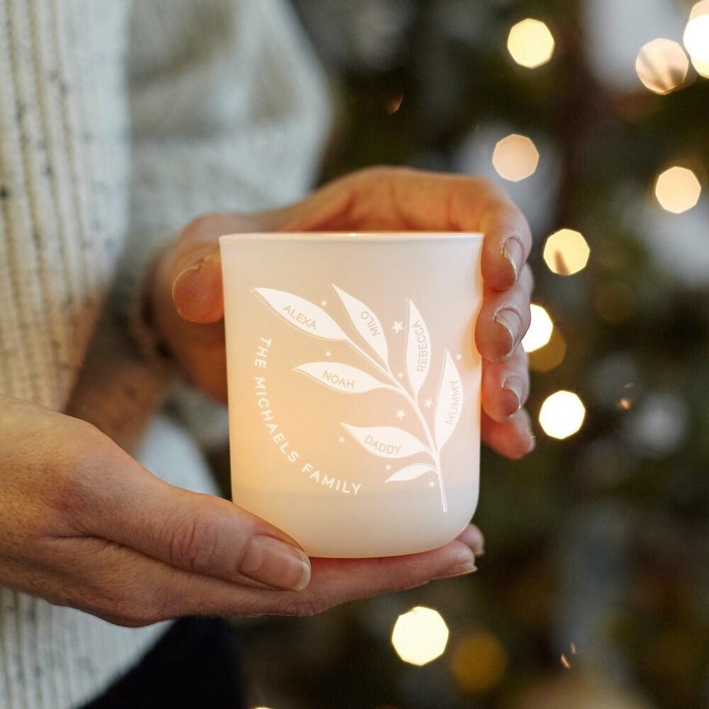 A family tree tea light holder from Norma Dorothy on Etsy
