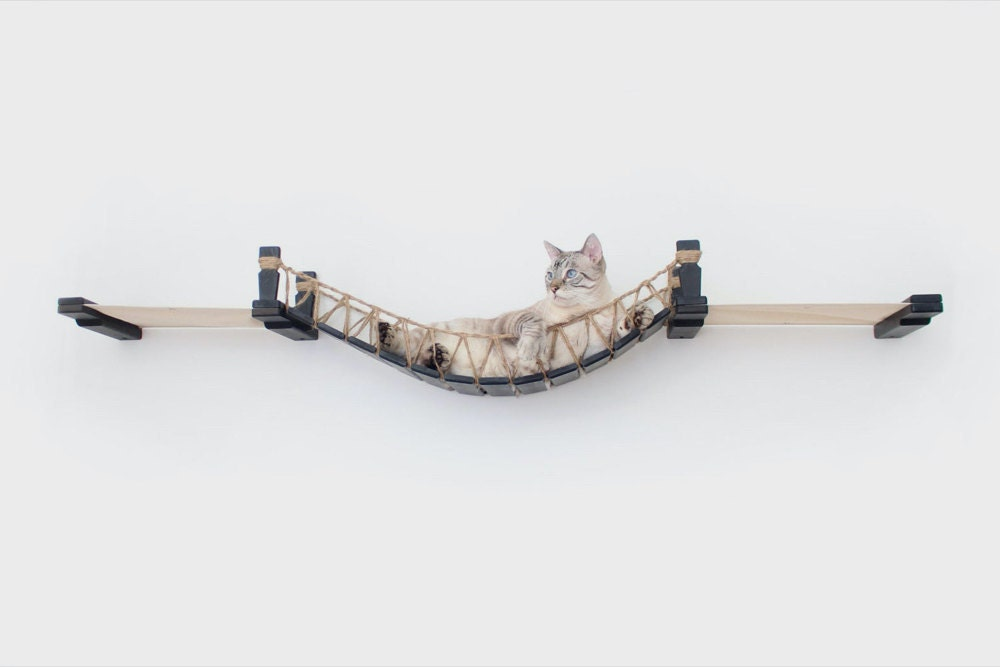 A wall-mounted cat bridge from CatastrophiCreations