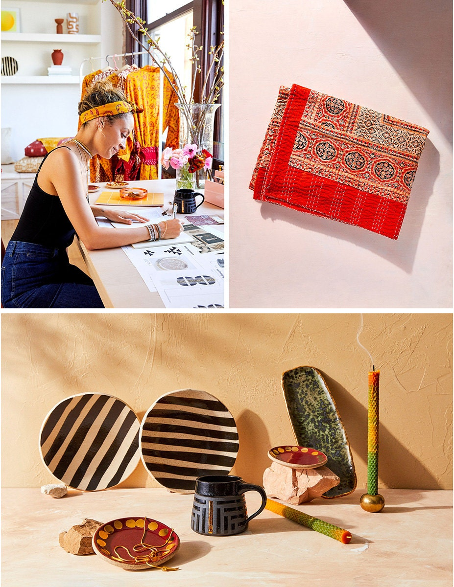 A collage of images featuring Nicole Richie and her limited-edition Creator Collab.