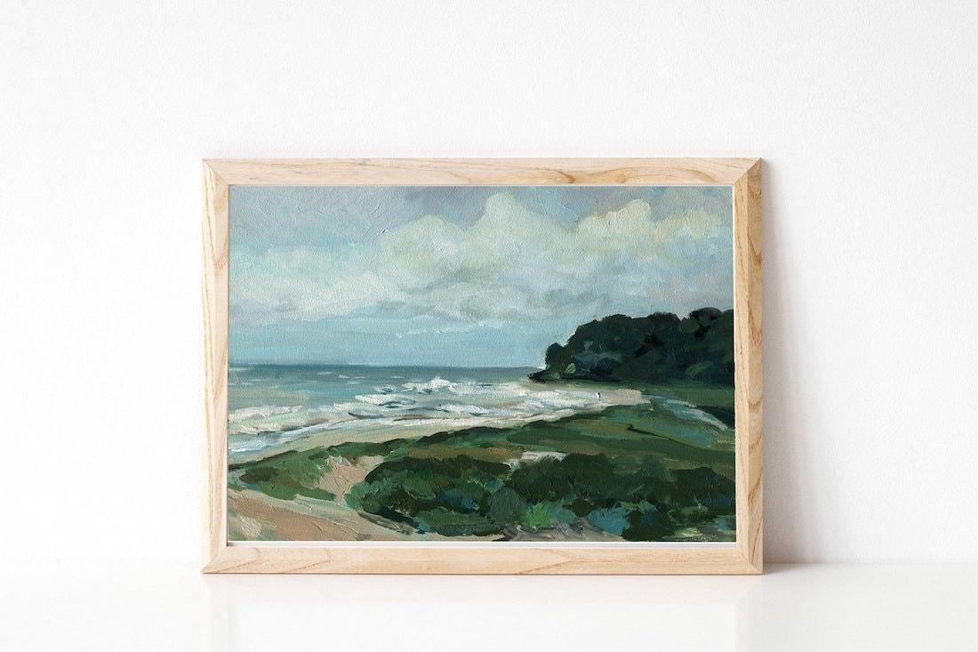 Landscape oil painting print from Albina Bratcheva Art