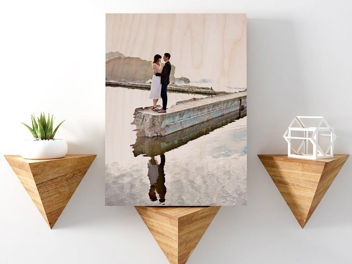 Personalized wood photo from Wood Life Prints