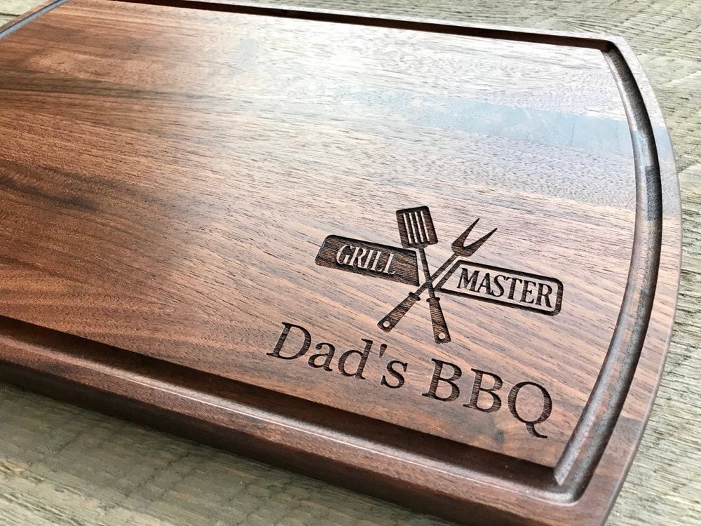 A personalized cutting board from CD Shardwoods