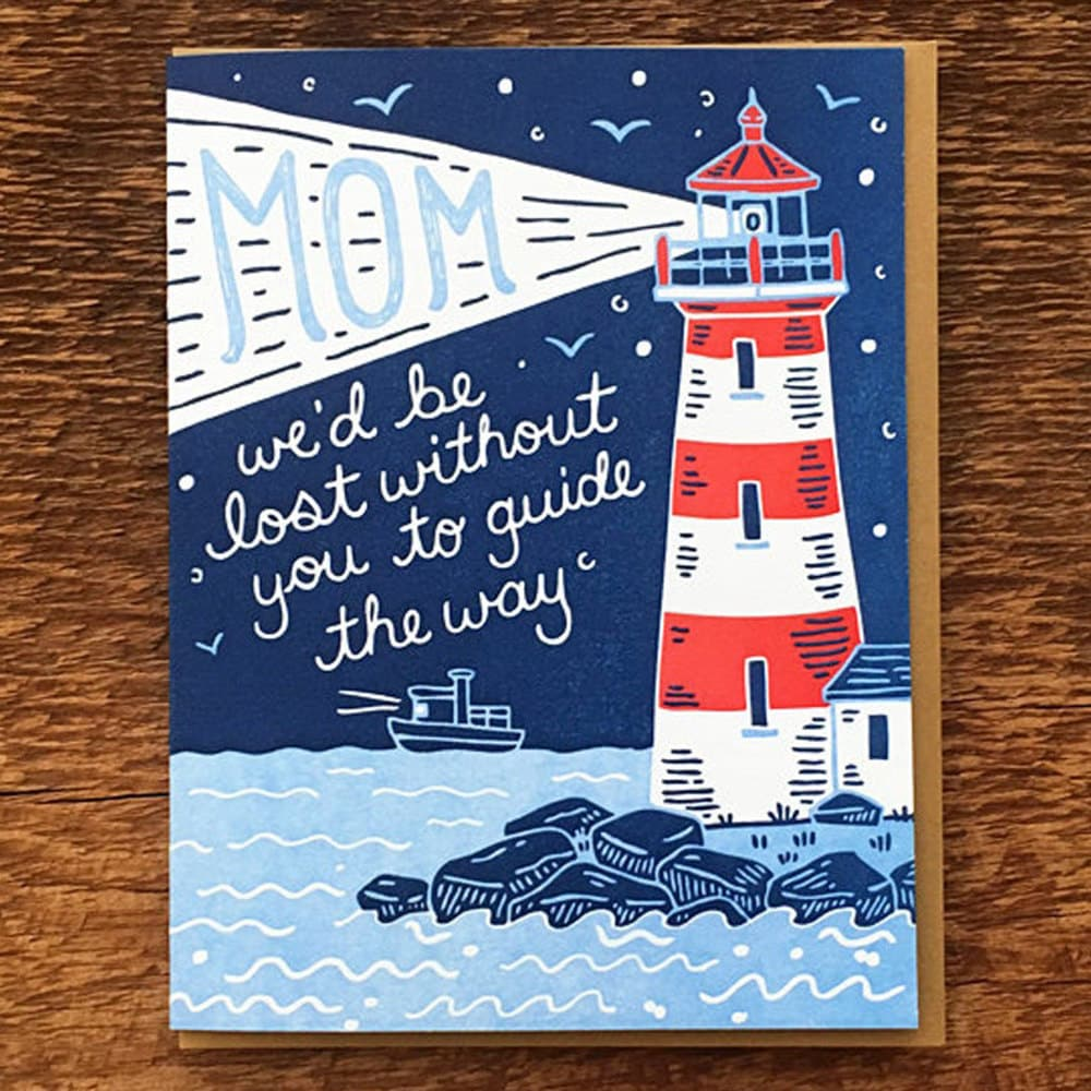 A unique Mother's Day card for a mom who guides the way