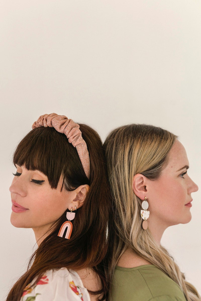 Statement earrings from the A Beautiful Mess x Etsy collection