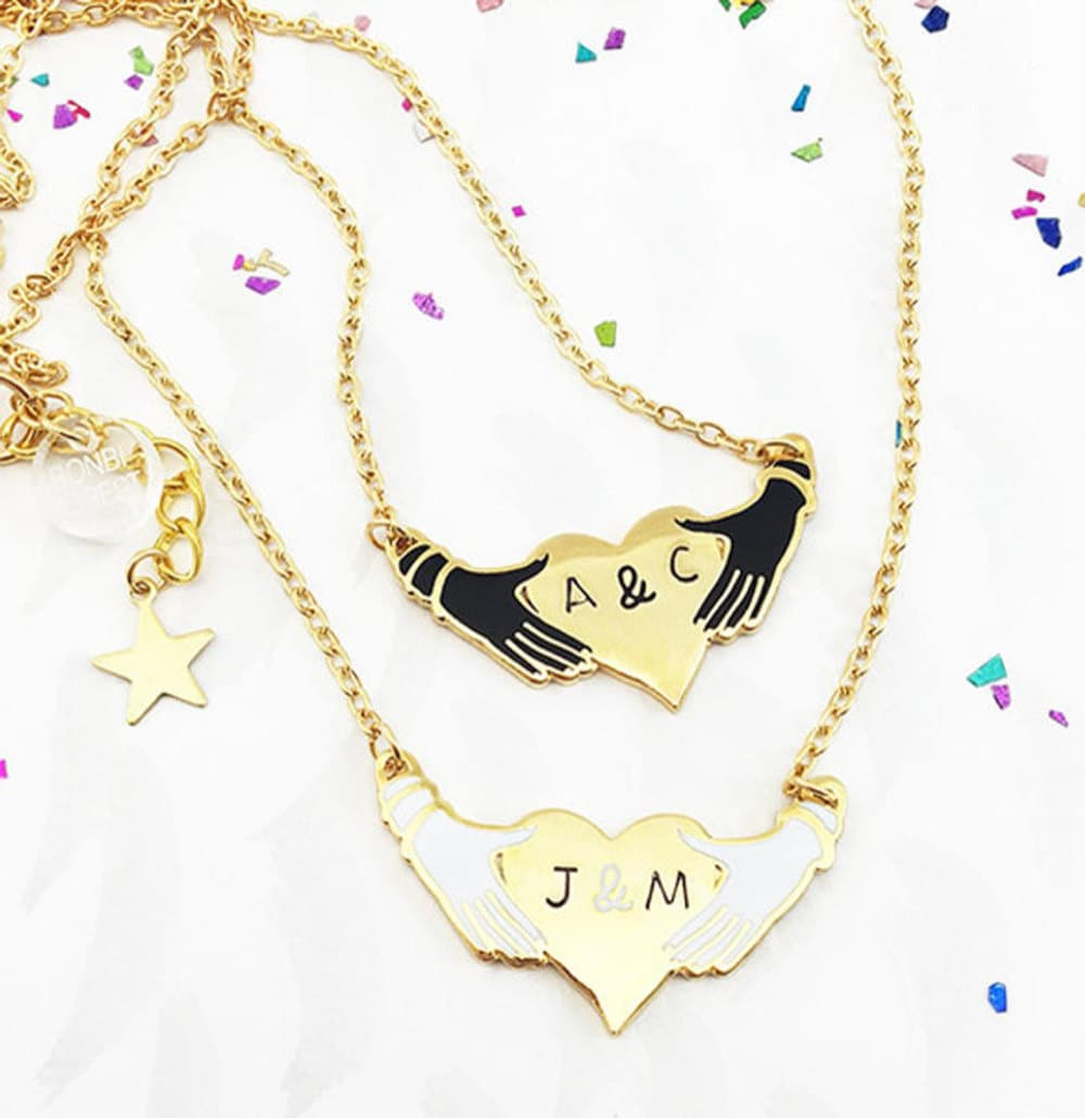 Initial necklaces from Bonbi Forest